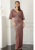 Copper velvet 13 short sleeve maxi dress
