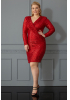 Red plus size dress