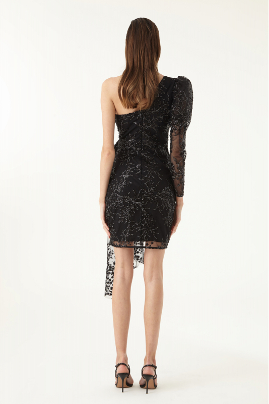 Black sequined mini dress