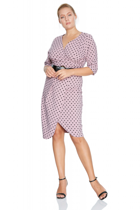 Print f80 plus size dress