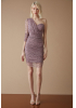 Lilac tulle single sleeve mini dress
