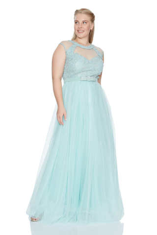 Mint green plus size dress