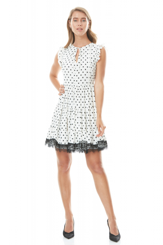 Print y76 crepe short sleeve mini dress