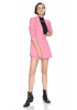 Pink crepe long sleeve jacket