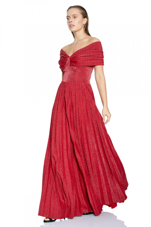 Red velvet 13 sleeveless maxi dress