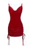 Red velvet sleeveless mini dress