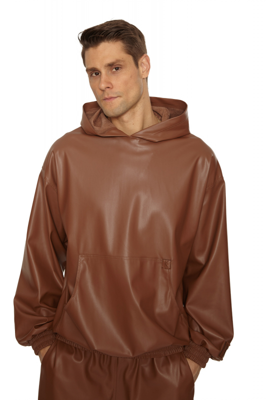 Brown leather long sleeve