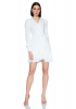 White chiffon long sleeve mini dress
