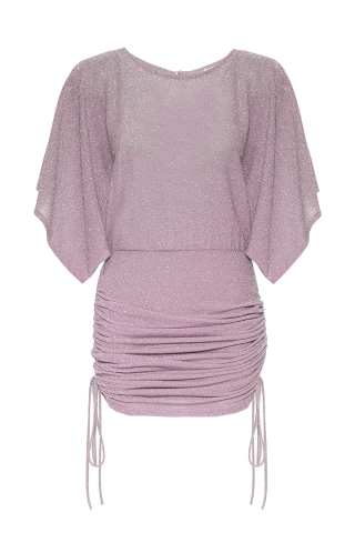 Lilac short sleeve mini dress