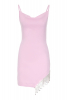 New powder pink crepe sleeveless mini dress