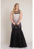 Dotted gold plus size knitted sleeveless maxi dress