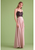 Powder knitted sleeveless maxi dress